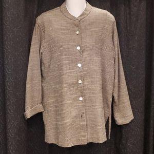 Coldwater Creek Plaid Jacket & Under Shirt